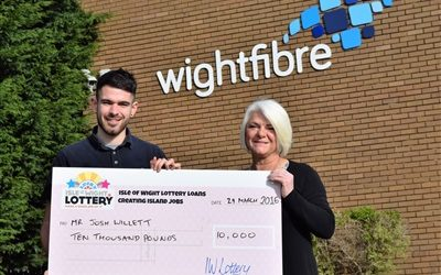£10k Monster win for Josh on the Isle of Wight Lottery!
