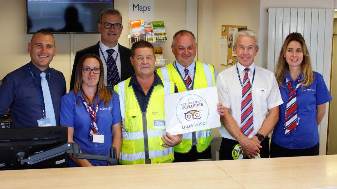 TripAdvisor award for Wightlink's Yarmouth team