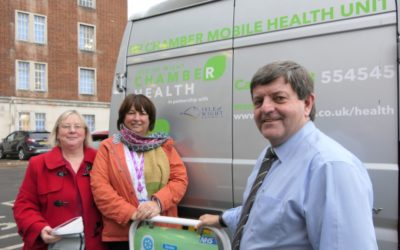 Get a free workplace NHS Health screen with Chamber Health