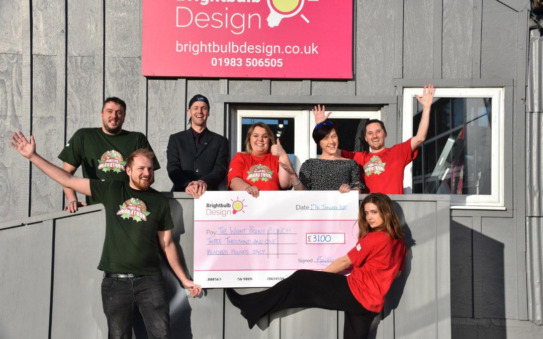 84 businesses help Brightbulb Design raise £3100 for Charity
